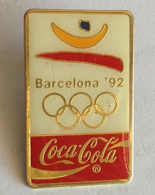 Barcelona 1992 CocaCola Advertising Olympic Games Pin Badge Rare Vintage (F2)