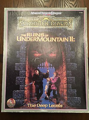 AD&D The Ruins Of UnderMountain II Campaign Adventure TSR 1104