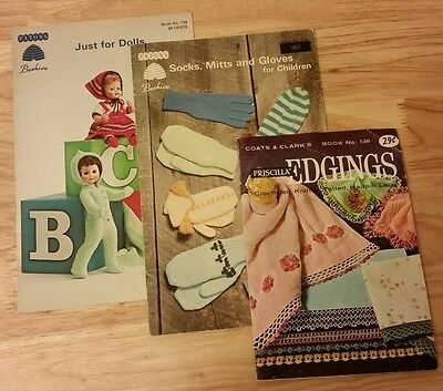 Vintage Beehive Patons Coats And Clark Knitting Crochet Pattern Books 1960's