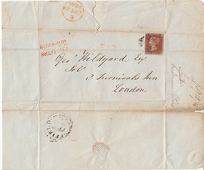 1844 Queen Victoria Cover From Sheffield To London