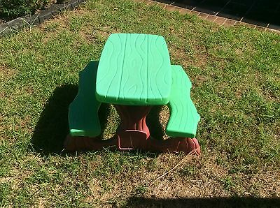 Kids Table With Bench/ Chair