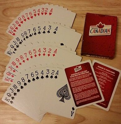 Molson Canadian Beer Texas Hold'em Poker Playing Cards Brewery