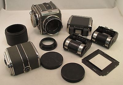 Vintage Zenza Bronica Camera w/ Lens & Lot of Camera Parts - For Parts