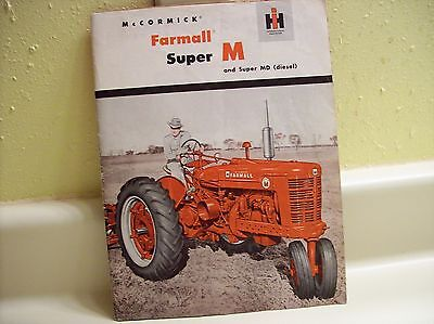 1952 McCormick Farmall Super M & Super MD Sales Brochure