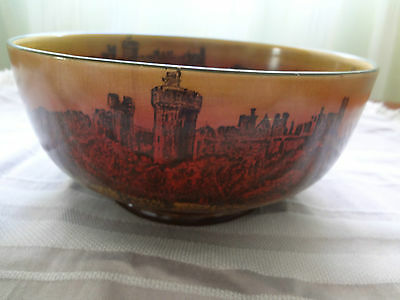 Royal Doulton Brown Bowl - Bodiam Castle - Sunset - No D 4504 -