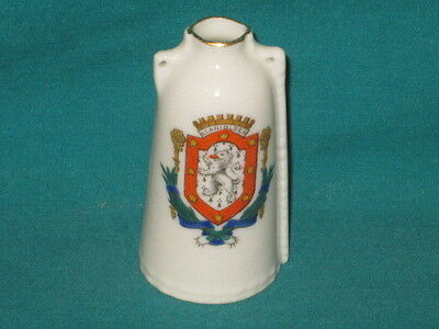 Goss China Newbury Leather Bottle - LLANIDLOES crest