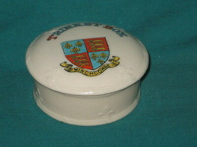 Arcadian China 'Trinket Box'* - WINCHCOMBE crest