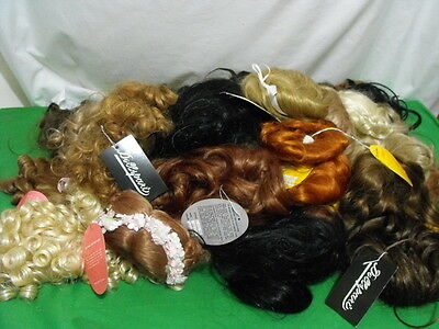 Huge Lot Of 41 Doll Hair Wigs Kemper Monique Playhouse Various Sizes Colors