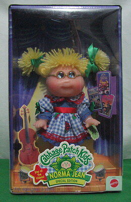 "Cabbage Patch Kids Doll ""norma Jean"" Doll Special Edition Star Of The Video New"