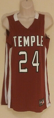 Under Armour Women's Temple #24 Maroon Basketball Jersey Size Small