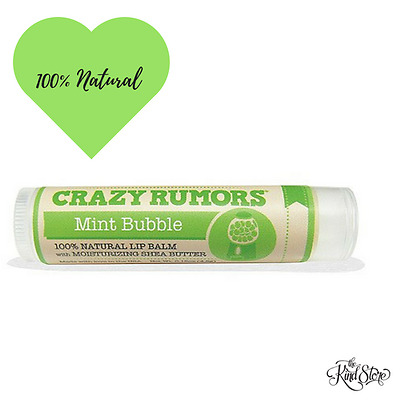 Crazy Rumours Mint Bubble All Natural Lip Balm [4.2g]