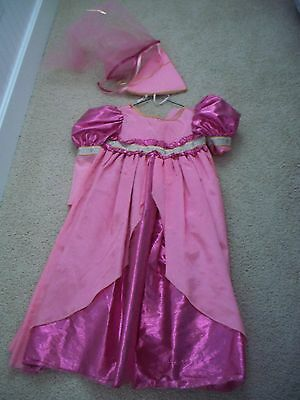 Disney Princess Cinderella Costume Halloween Girls Dress Up Size M