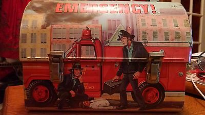 1977 EMERGENCY Tv Show DOME LUNCHBOX & THERMOS Firefighter,Rescue Truck