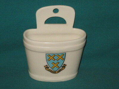 Goss China Old Swiss Milk Bucket - LEISTON ABBEY crest