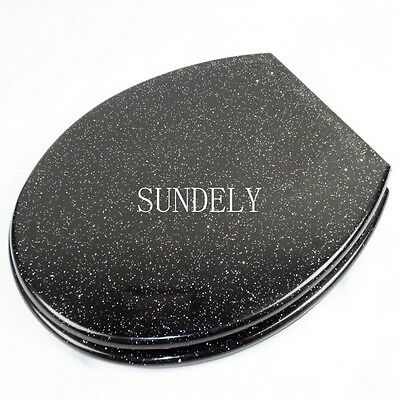 Glitter Toilet Seat Resin Novelty Toilet Seats with stainless steel hinges