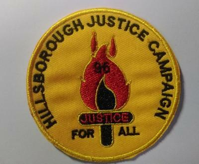 Rare Liverpool Hillsborough Justice Campaign Embroidered Sew Iron On Patch Badge