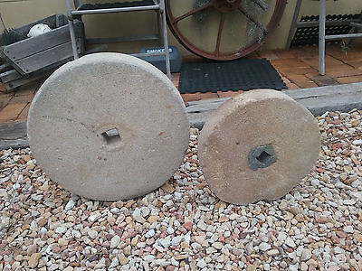 Antique Vintage Millstone Grinding Stone X 2 CHEAP Great for a Garden Display