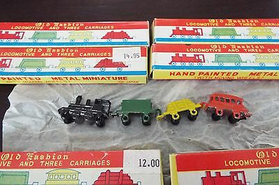 4 Pc Miniature Metal Train Sets From Japan Brand New In The Box - Great Gifts!