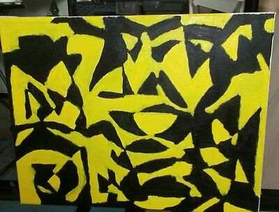 Abstract oil painting. Bees after a long pollination