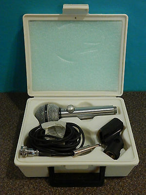 Vintage 1960S Shure PE 585V High Z Volume Control Microphone With Accessories