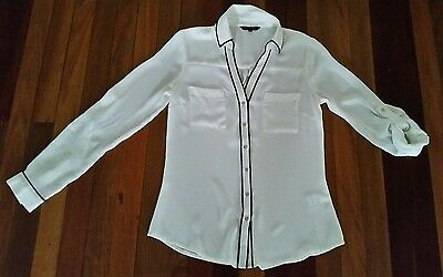 Women's white portmans blouse shirt size 6