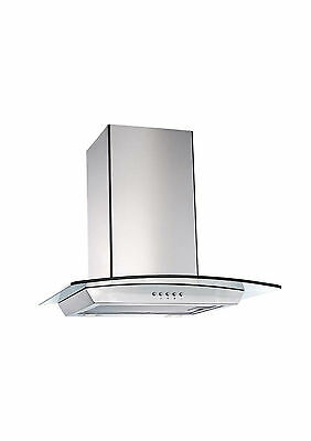 Brand New ​60cm European Design Curved Glass Wall Mount Canopy Rangehood 600mm