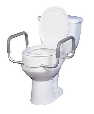 Elevated Toilet Seat w/RemArms For Regular Toilet Seat T/F KD New Item# 1156C