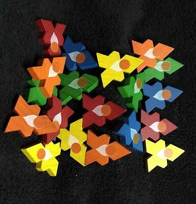 Wooden Puzzle Game 20 Colorful Interlocking Pieces Kids Interactive Learning Toy