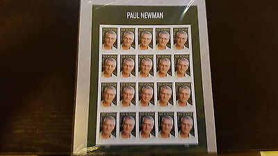 PAUL NEWMAN STAMP SHEET -- USA #5020 FOREVER 2015 Sealed in Plastic Wrap