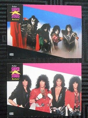 KISS - cards x 2 Super Stars 1991 - rare - Not Aucoin