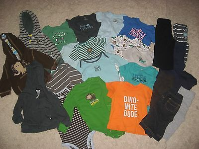 Huge 24 Piece Baby Boy Clothes Lot! 6 Month! Carters