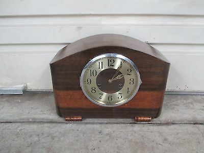 Vintage German clock. Art deco clock.