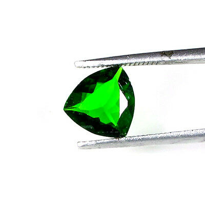 TOP GRADE~NATURAL GREEN CHROME DIOPSIDE 1.12Cts. TRILLION CUT LOOSE GEMSTONE
