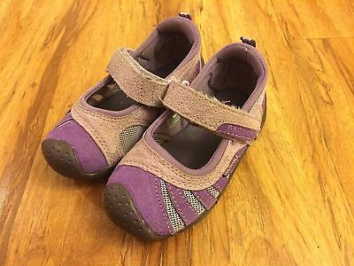 Toddler Girl PEDIPED Purple Velcro Sport Shoes Sandals Size 6-6.5M Washable