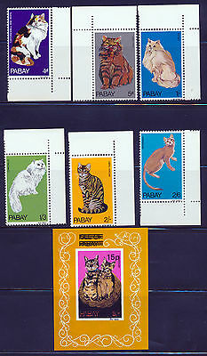 Isle Of Pabay Scotland 1969 Cats Issue With Imperf Strike O/p Souvenir Sheet