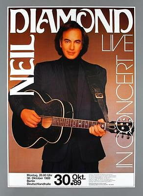 NEIL DIAMOND - rare original Berlin 1989 BEST YEARS OF OUR LIVES concert poster
