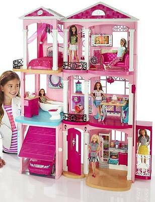 Barbie Dream house With Three Floors, Seven Rooms, 70+ Accessories & An Elevator