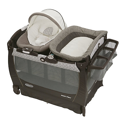 Graco Pack 'n Play Playard Bassinet, Baby Bouncer, Protable Rocking Seat Crib