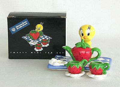 Tweety's Berries Collection Ceramic Mini Tea Set NIB