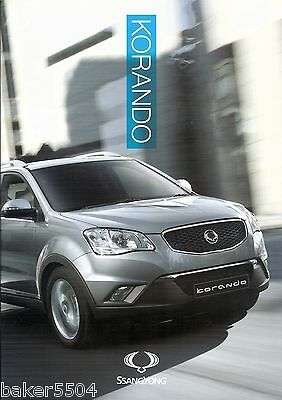 Ssangyong Korando Brochure / Specification ~ Excellent Condition ~ Free Uk P&p