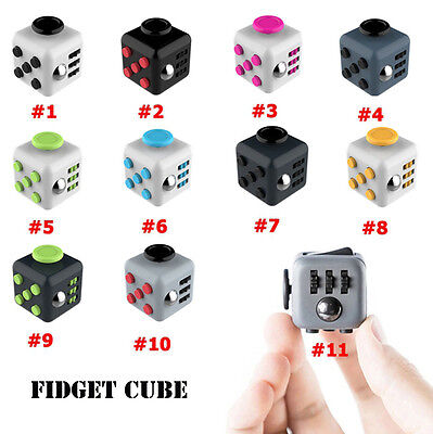 Hot Magic Fidget Cube Anti-anxiety Focus Adults Stress Relief Kids Toy Xmas Gift