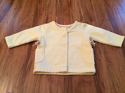 BABY GAP Yellow Knit SNAP FRONT CARDIGAN SWEATER JACKET Girls 3-6 months