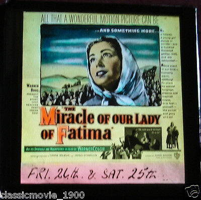 The Miracle Of Our Lady Fatima Original Glass Slide