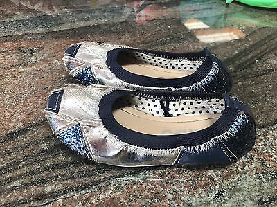 Girls Cotton On Ballet Flats Shoes, Size 11, As New