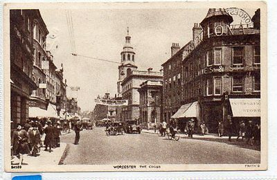 """""postcard The Cross,worcester,dated 1947"""""