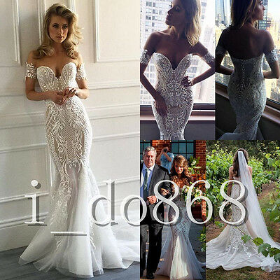 2018 New Style Sweetheart Wedding Dresses Lace Mermaid Custom Made Bridal Gowns