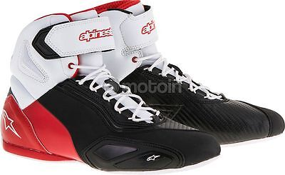 "alpinestars faster 2 shoes Black White red ""9 US"""