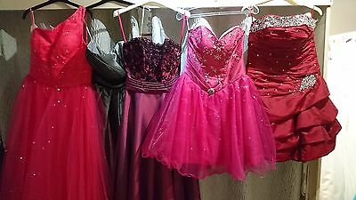 Job lot 5 x Excellent Bridesmaids/Evening/Prom dresses in Mixed Sizes 8 10 12