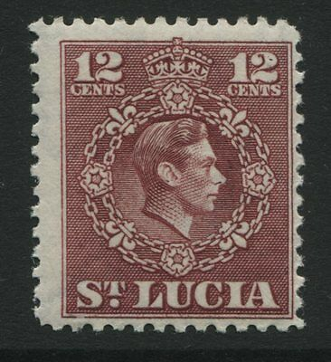 St Lucia: 1949 George VI 12 cents stamp SG153 MM ZZ113