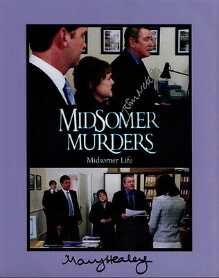 JOHN NETTLES ~ MARY HEALY ~ MIDSOMER MURDERS ~ SIGNED 10x8 PHOTO COA